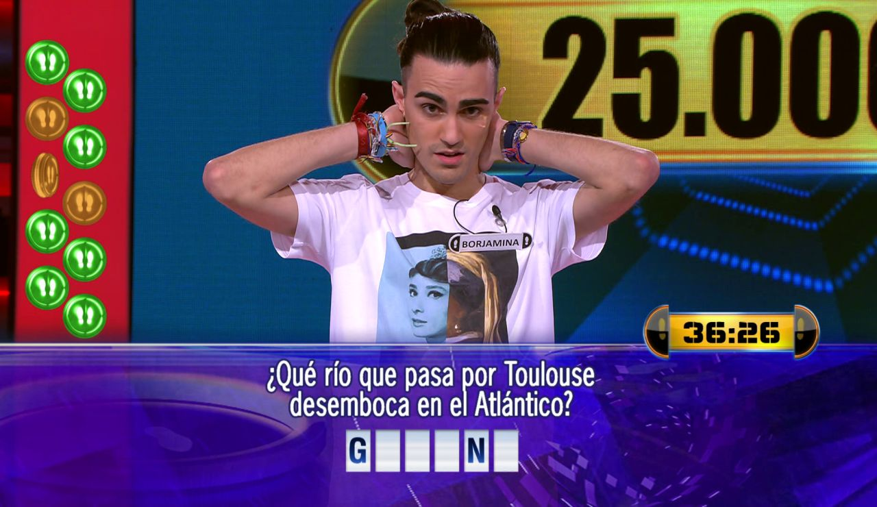 Borja juega por 25.000 euros el Duelo Final de '¡Ahora caigo!'