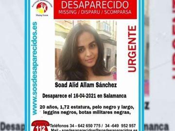 Desaparecida en Salamanca