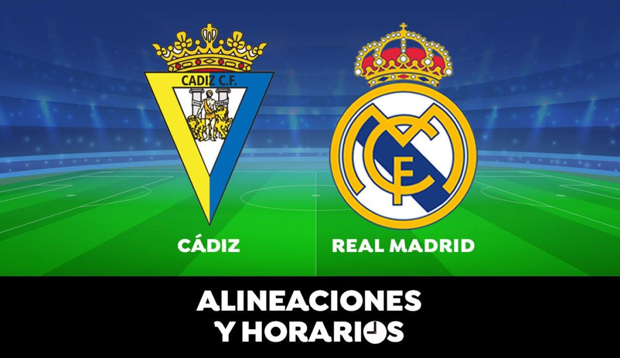 Cádiz - Real Madrid: Horario, alineaciones y dónde ver el partido de la Liga Santander en directo