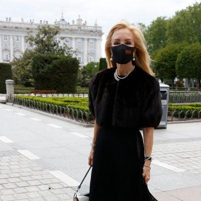 Carmen Lomana, en el estreno de la ópera en Madrid