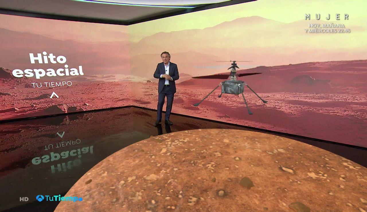 Un vuelo en otro mundo: El pequeño helicóptero 'Ingenuity' vuela en Marte