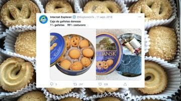 Caja de galletas danesas