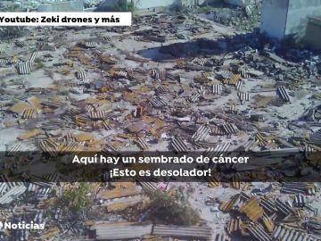 """Vecinos de Alcalá de Guadaíra denuncian las toneladas de amianto: """"Es desolador, es el Chernobyl alcalaeño"""""""