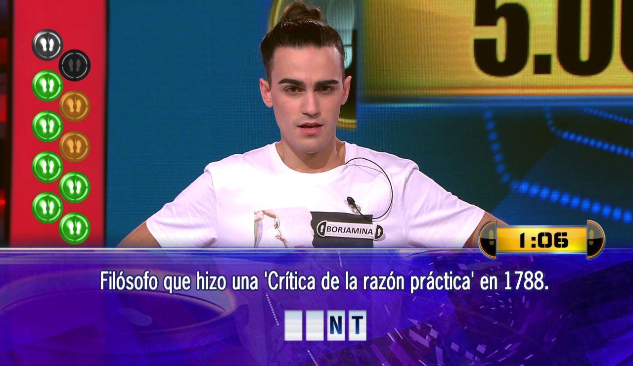 Borja juega por 5.000 euros el Duelo Final de '¡Ahora caigo!'