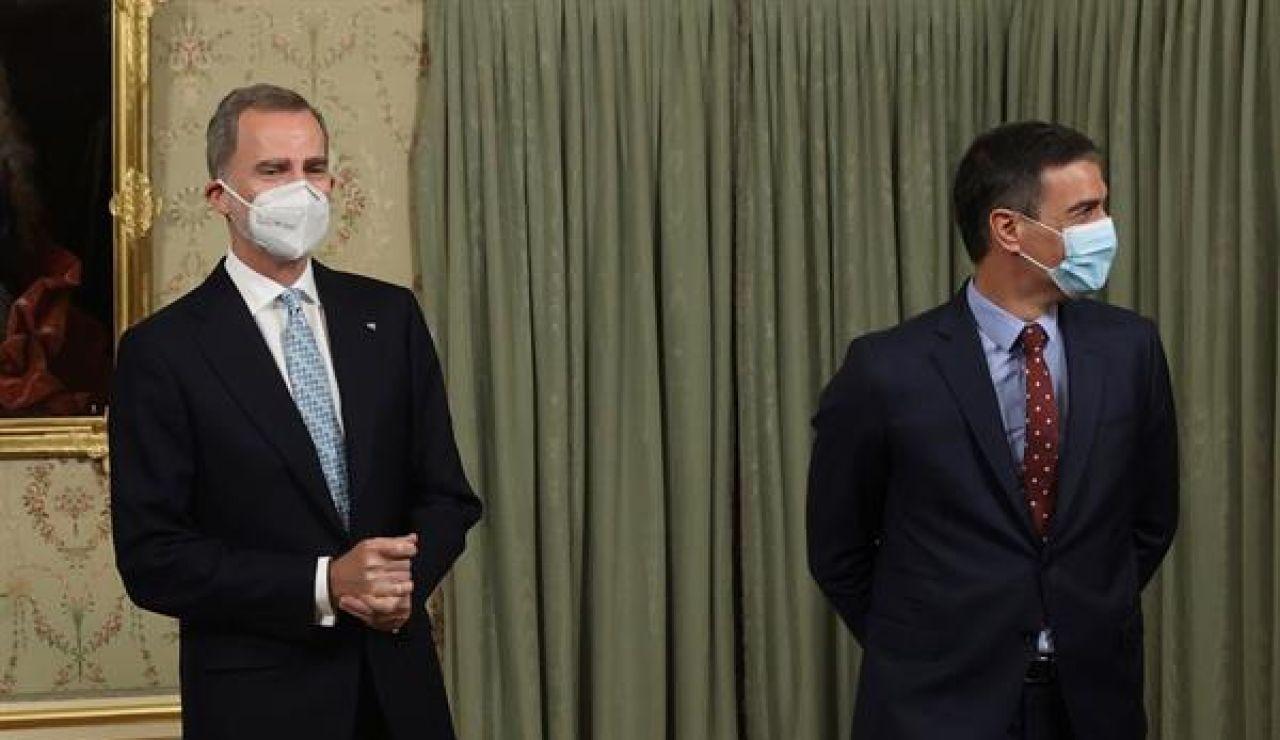 Imagen de archivo del Rey y de Pedro Sánchez