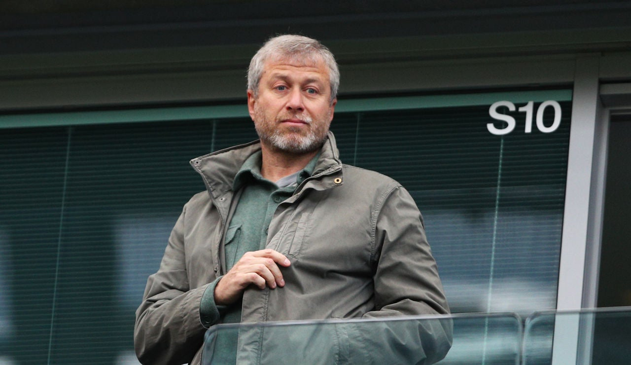 Román Abramóvich, presidente del Chelsea