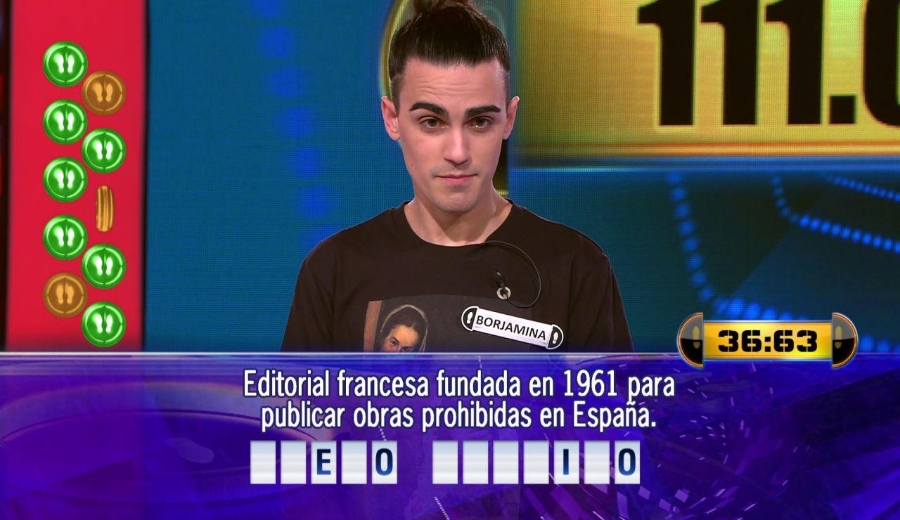 Borja juega el Duelo Final por 111.001 euros en '¡Ahora caigo!'
