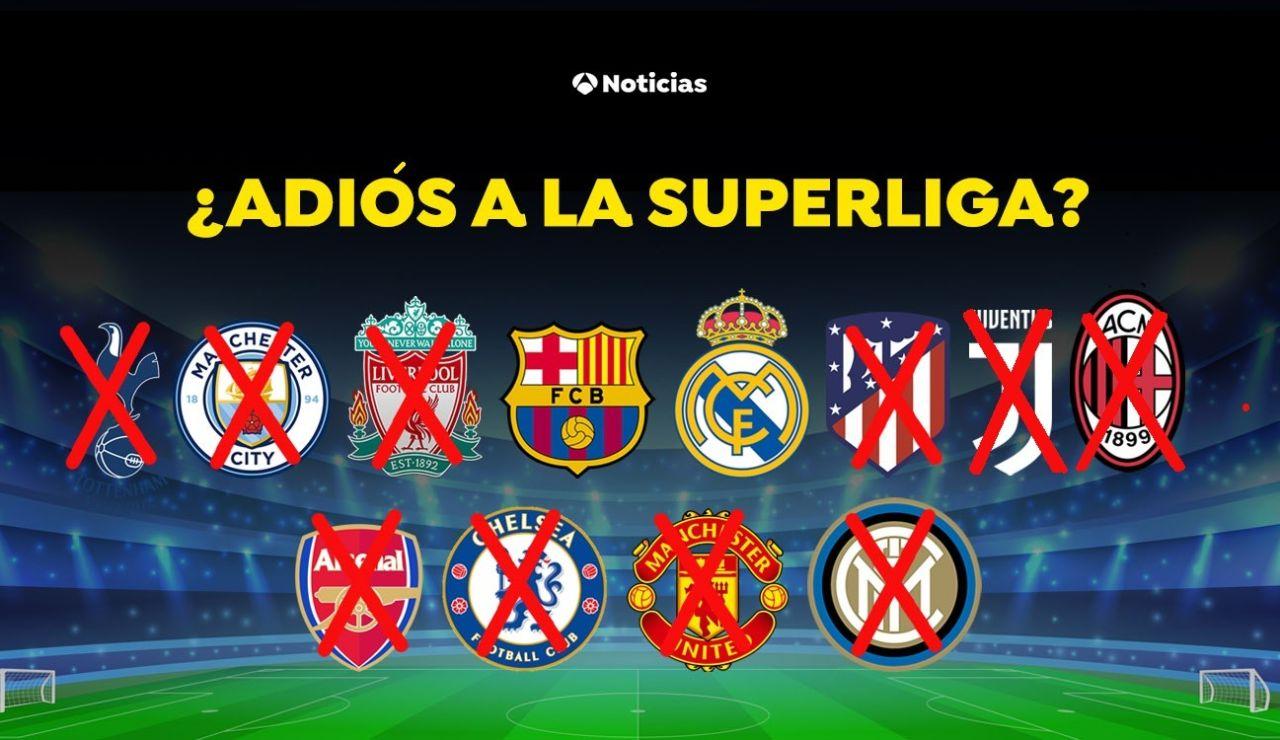 Los 6 clubes ingleses, los 3 italianos y Atlético de Madrid se retiran de la Superliga europea capitaneada por Florentino Pérez
