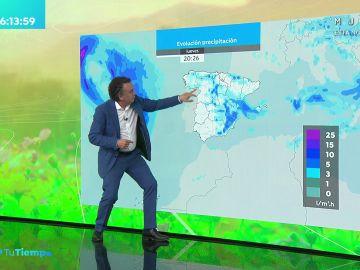 La previsión del tiempo hoy: Lluvias intensas en el sistema ibérico, litoral catalán y balear norte