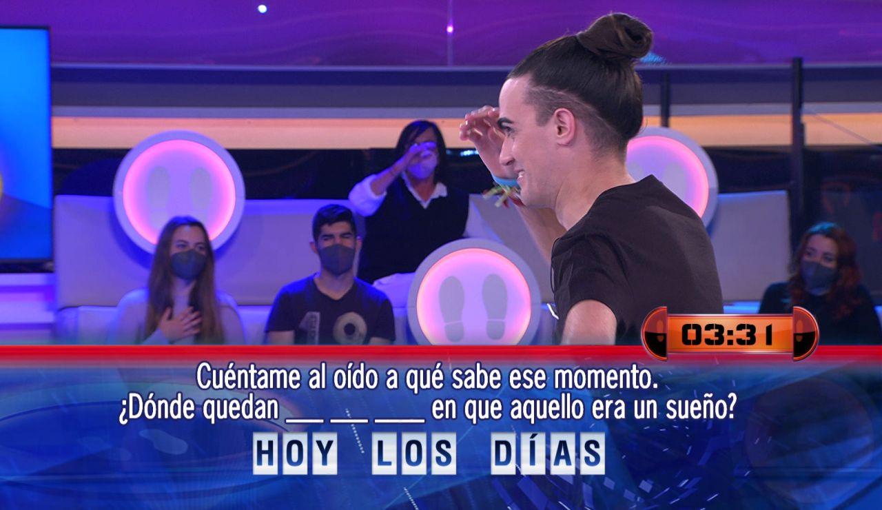 Una canción en '¡Ahora caigo!' provoca un déjà vu a Borja ¡de su duelo con Santi Millán!