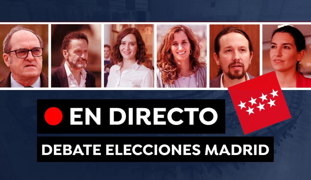Debate Elecciones de Madrid: Última hora de los candidatos y ver el debate hoy, en directo