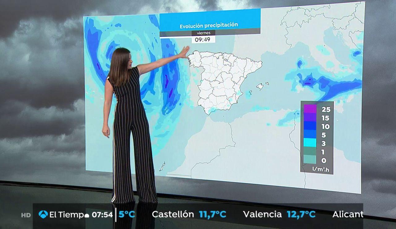 La previsión del tiempo hoy: Lluvias fuertes en el sistema ibérico, litoral catalán y balear norte