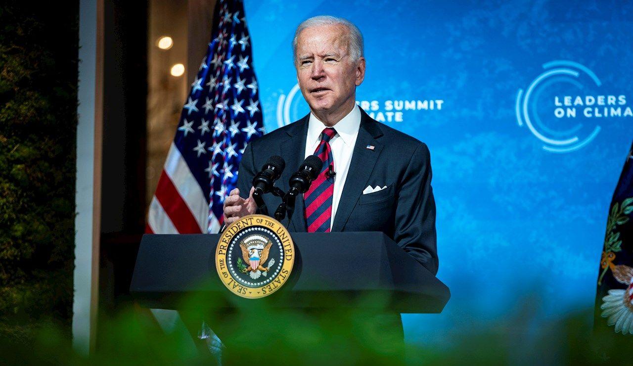Autor: EFEI0373 Temática: Medio ambiente El presidente de EE.UU., Joe Biden, habla durante una Cumbre de Líderes sobre el Clima este jueves 22 de abril de 2021
