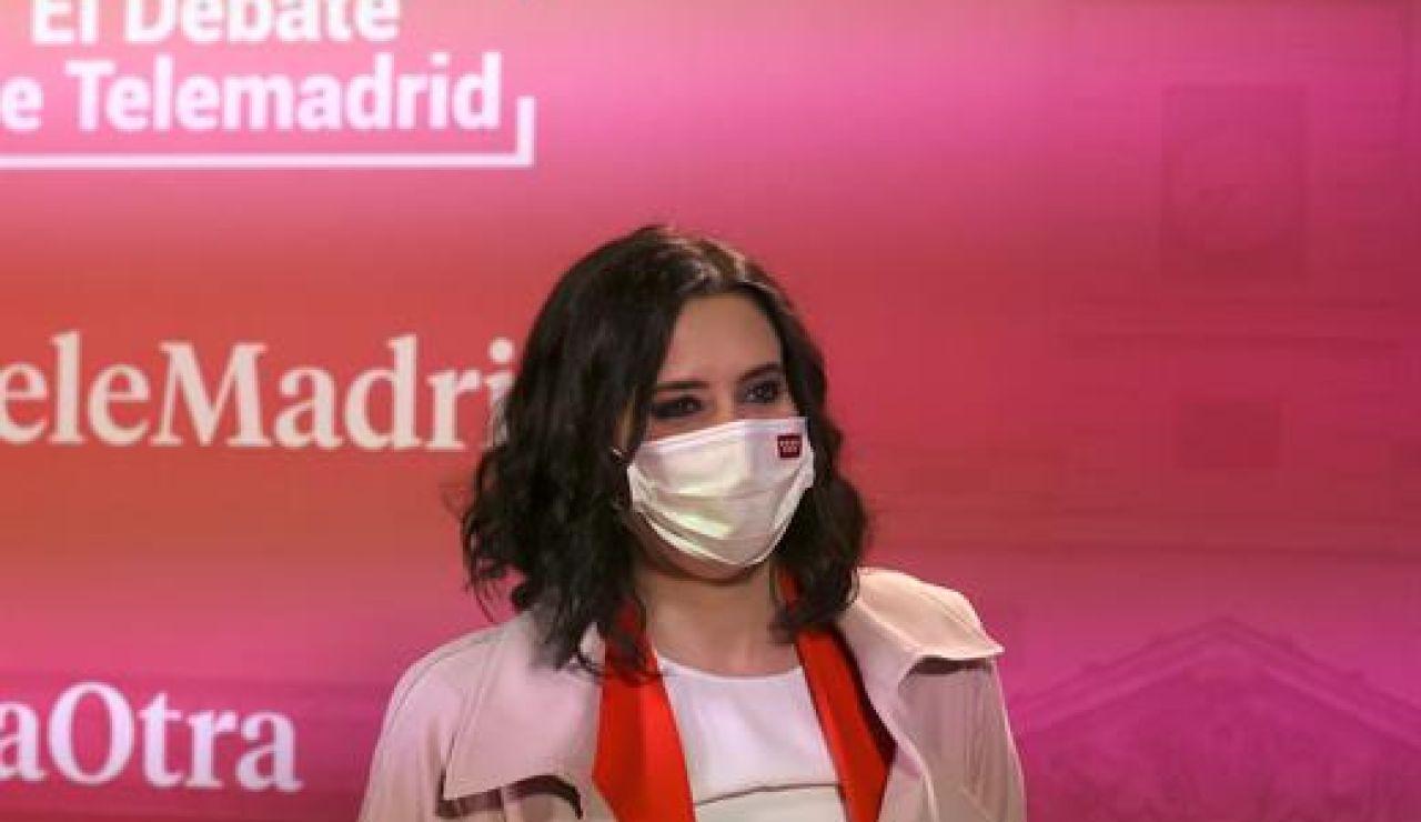 Isabel Díaz Ayuso, ganadora del debate para las elecciones en Madrid según una encuesta de Sigma Dos