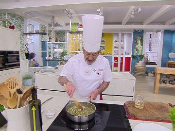 Karlos Arguiñano improvisa con un ingrediente a última hora