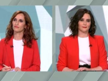 Mónica García e Isabel Díaz Ayuso