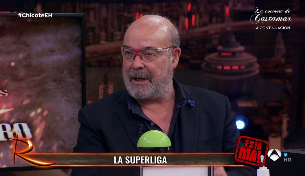 """Antonio Resines cuestiona la Superliga en 'El Hormiguero 3.0': """"Me parece un disparate de cojones"""""""