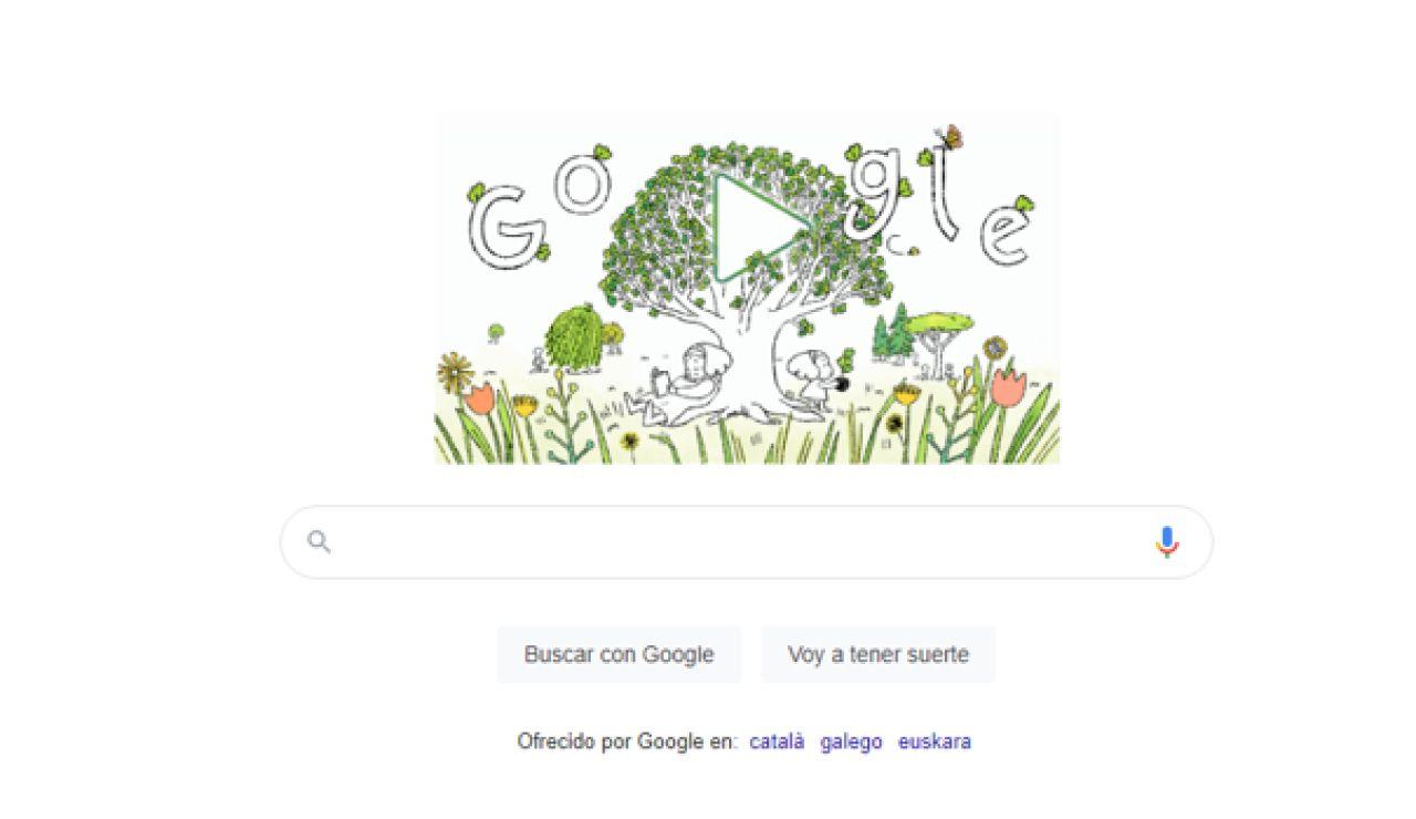 Imagen del doodle de Google por el Día de la Tierra 2021