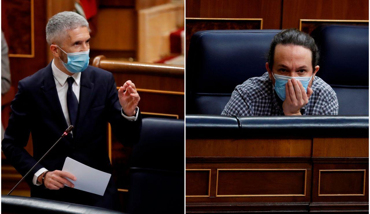 Fernando Grande Marlaska y Pablo Iglesias denuncian hacer recibidos cartas con cartuchos de bala en su interior