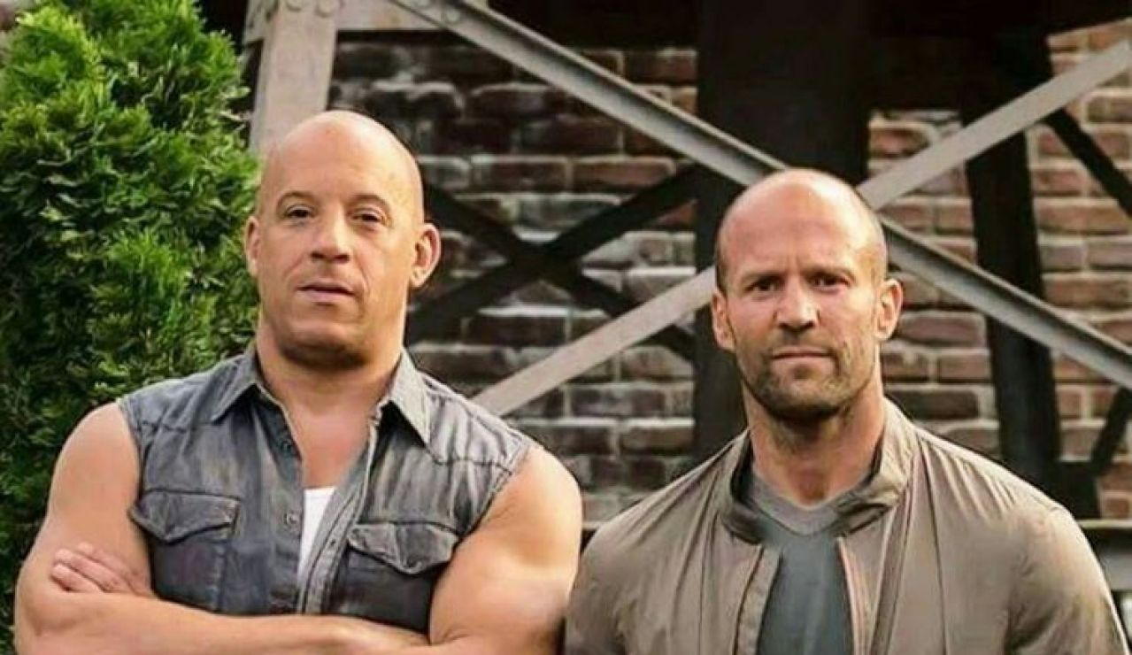 Jason Statham y Vin Diesel en 'Fast and Furious'