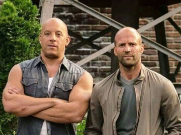 Jason Statham y Vin Diesel en 'Fast and Furious'