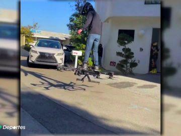 Inventan el dron 'porta personas' y lo estrenan con éxito en Los Ángeles