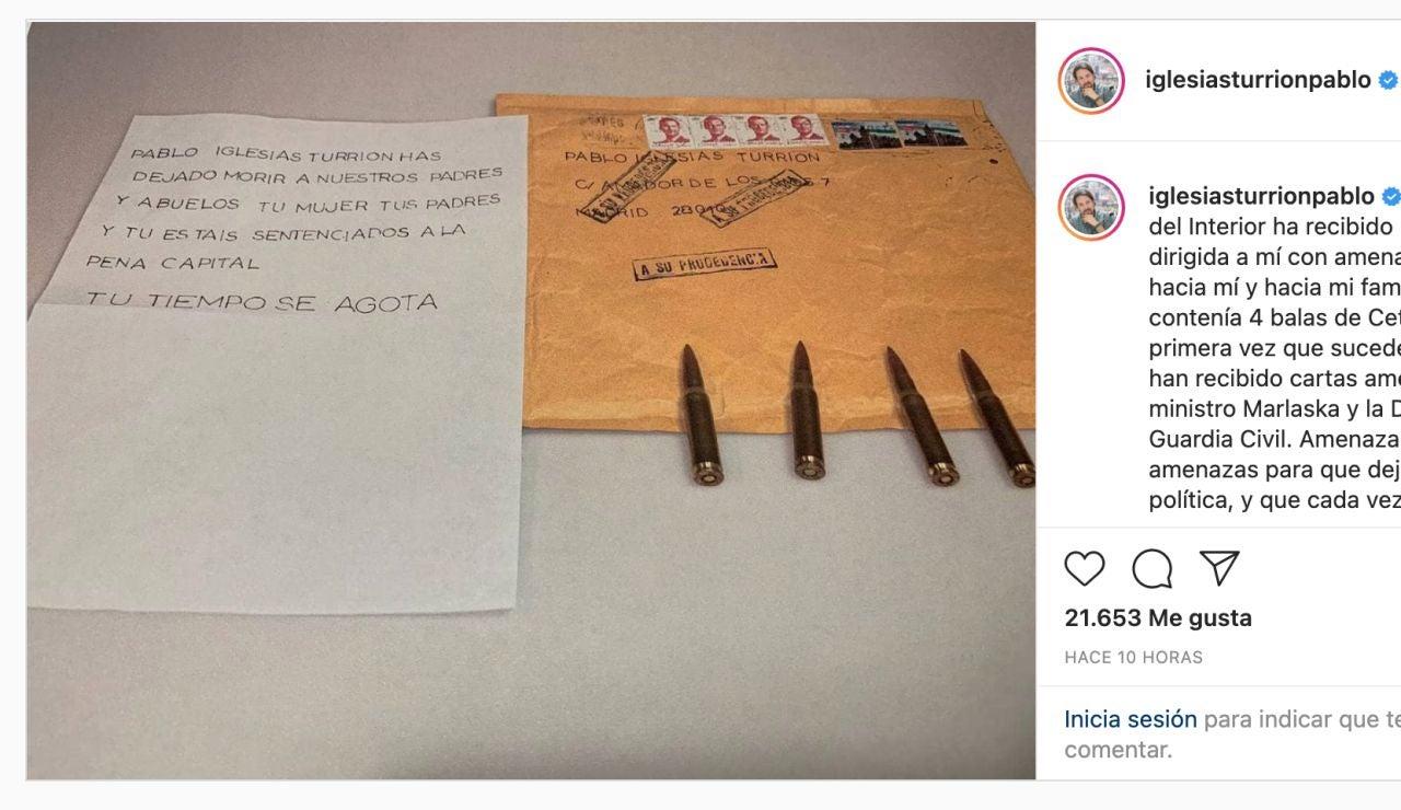 Amenaza de muerte a Pablo Iglesias