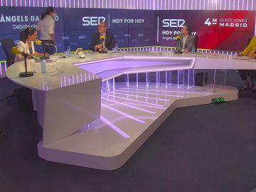 Pablo Iglesias abandona el debate a las elecciones en Madrid de la Cadena SER después de un duro rifirrafe con Rocío Monasterio