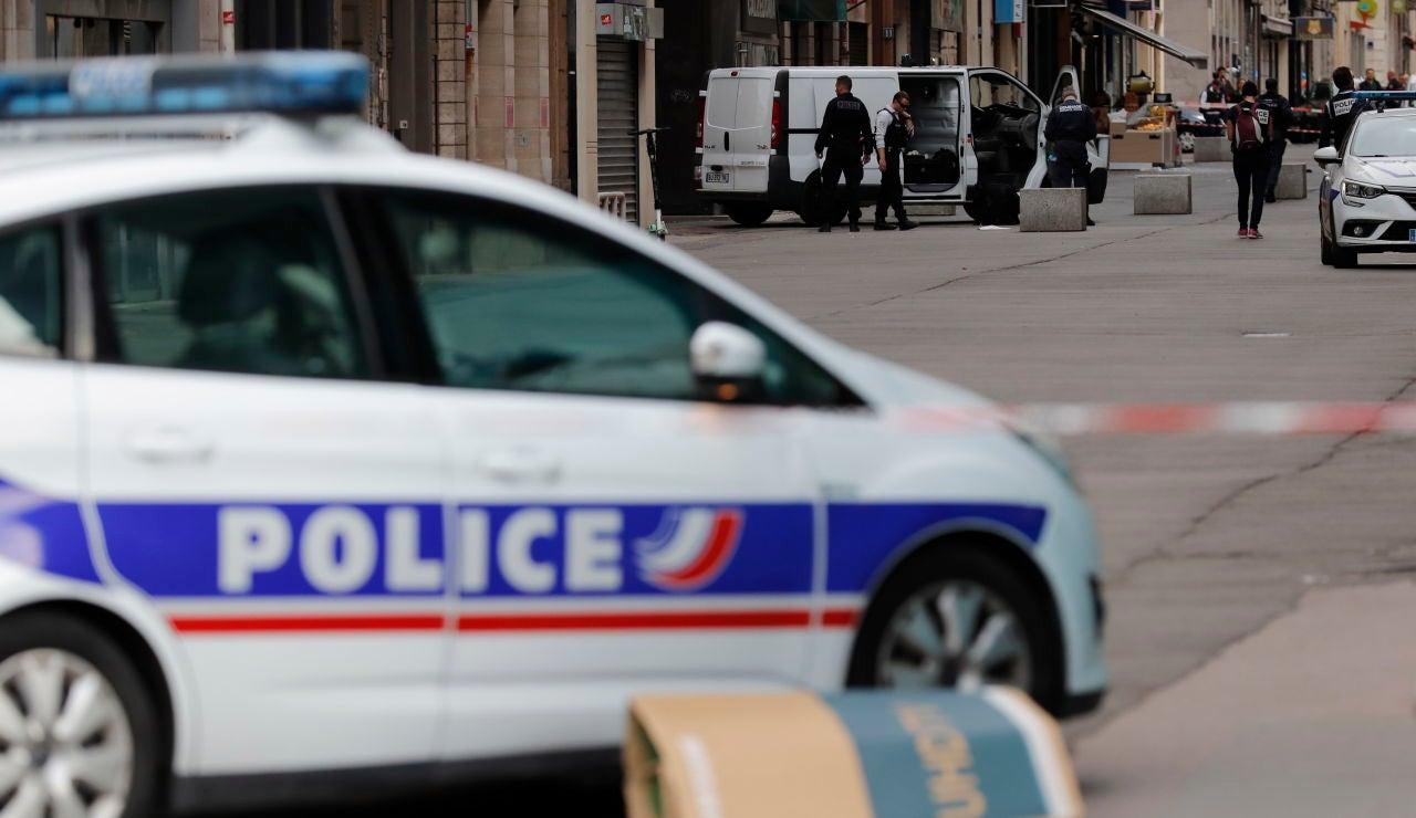 Un coche de la policía francesa