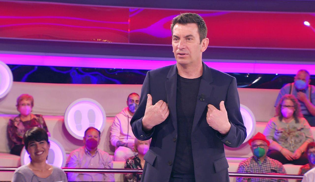 ¡Vaya chasco! El piropo frustrado de Arturo Valls a una concursante de '¡Ahora caigo!'
