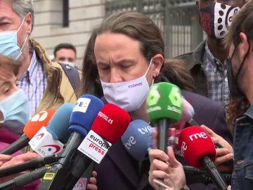 """Pablo Iglesias carga contra Vox: """"Si me pegan un tiro o me ponen una bomba dirán que me aprovecho"""""""