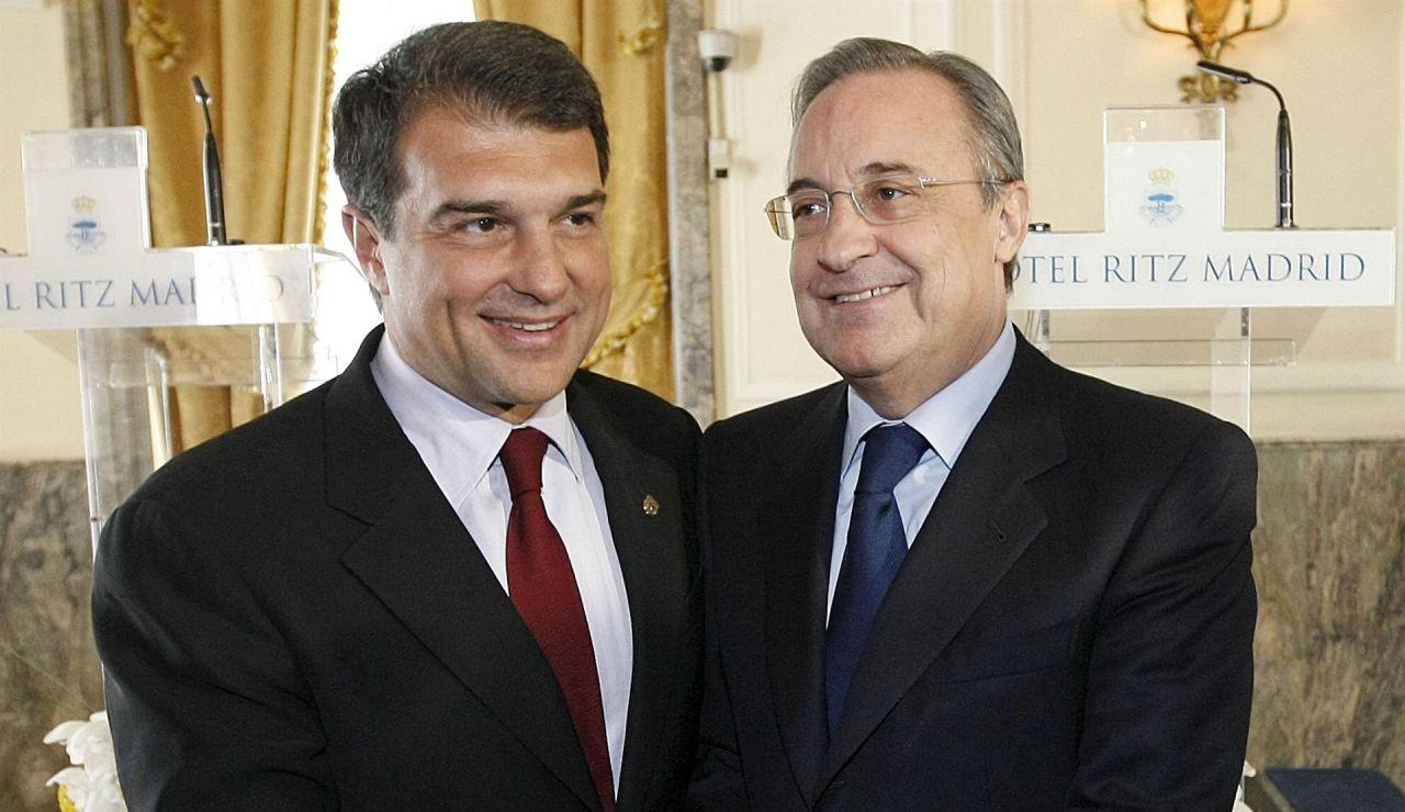 Joan Laporta y Florentino Pérez, presidentes del Barcelona y el Real Madrid