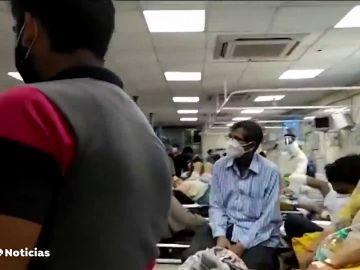 India recibe 500 litros de oxígenos diarios de los 8.000 necesarios para que sobrevivan los pacientes de coronavirus