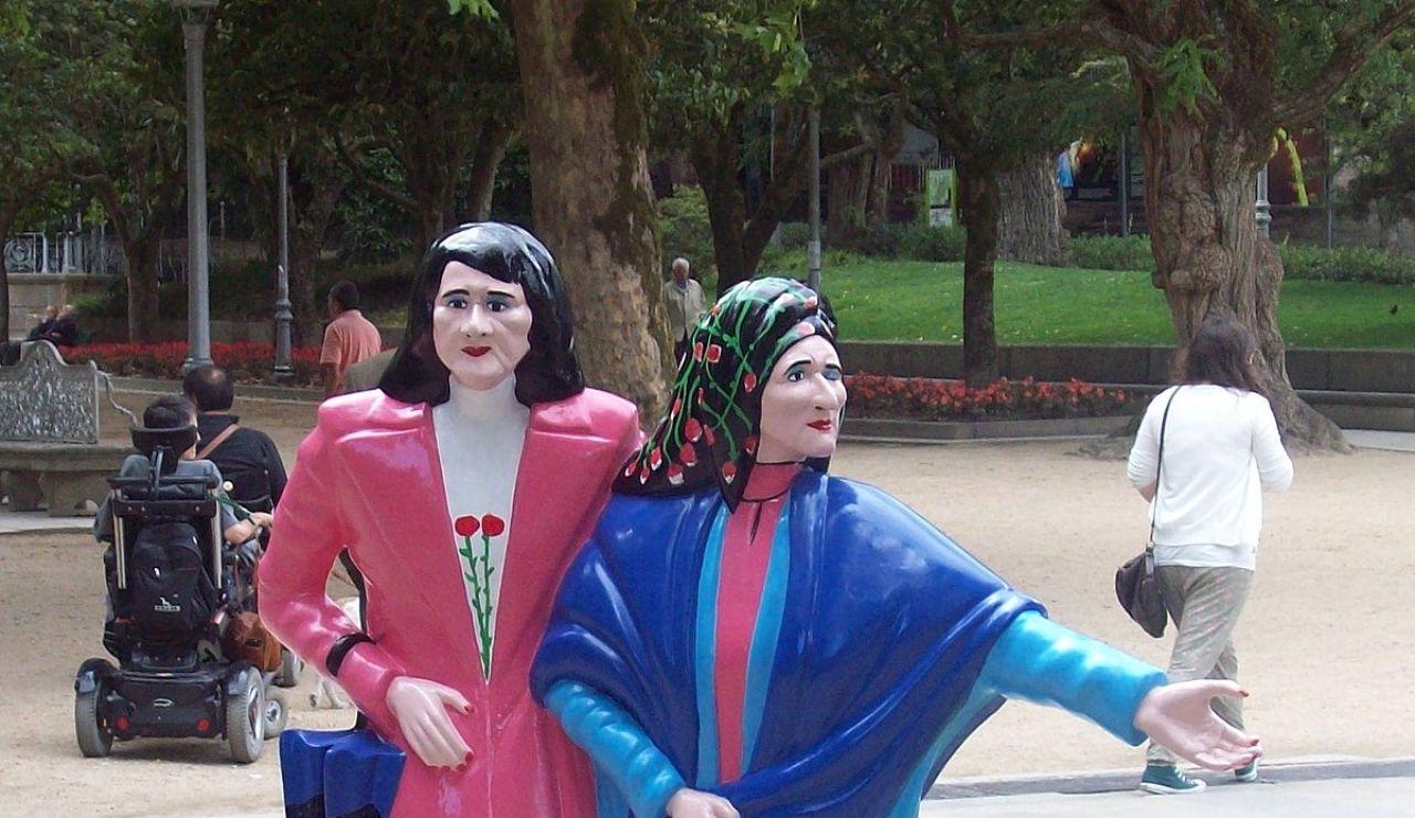 Estatuas de 'Las dos Marías'