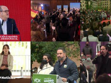 Giro en la estrategia para las elecciones de Madrid tras las amenazas que han recibido dirigentes de izquierda