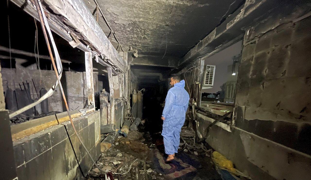explosión en un hospital para pacientes de coronavirus de Bagdad, capital de Irak
