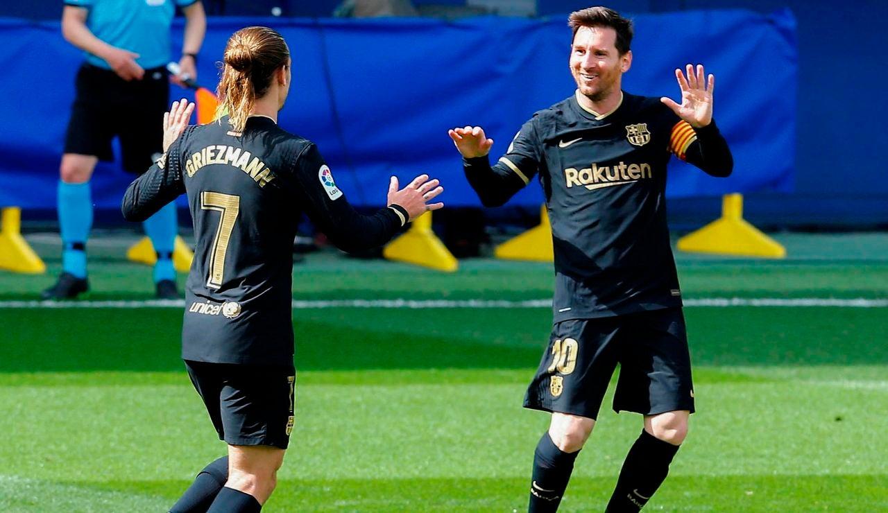 Un doblete de Griezmann permite al Barcelona ganar un duro partido ante el Villarreal