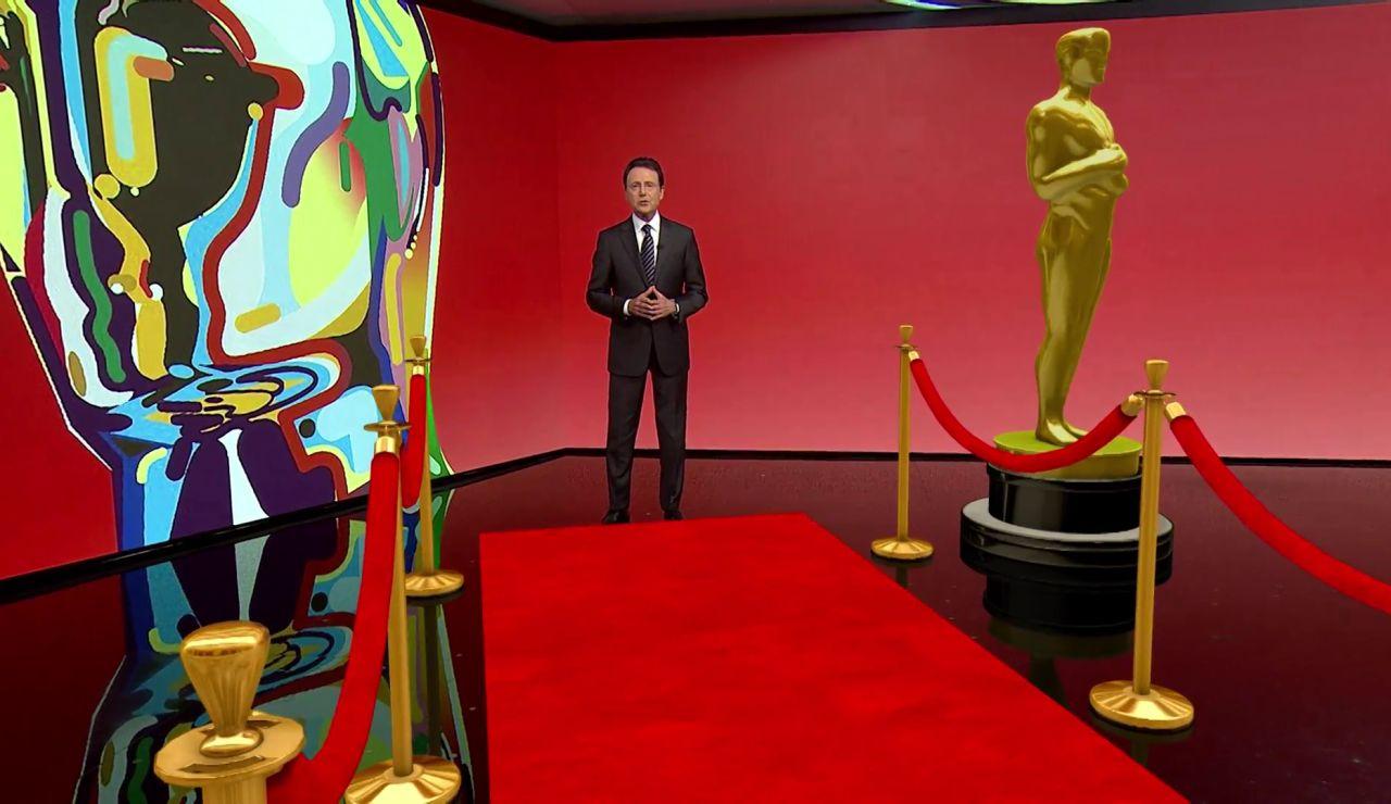 Matías Prats hace un recorrido por la alfombra roja de los premios Óscar en realidad aumentada