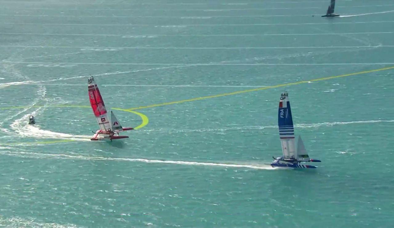 Susto del catamarán español en el GP Sail que casi termina volcando