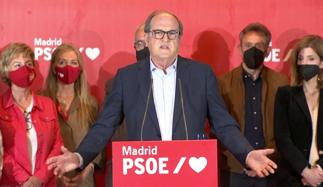 """Ángel Gabilondo reconoce los malos datos en las elecciones de Madrid: """"Los resultados no son buenos, no lo he logrado"""""""