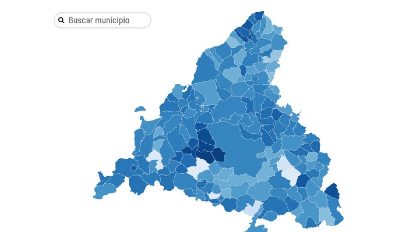 Mapa elecciones Madrid