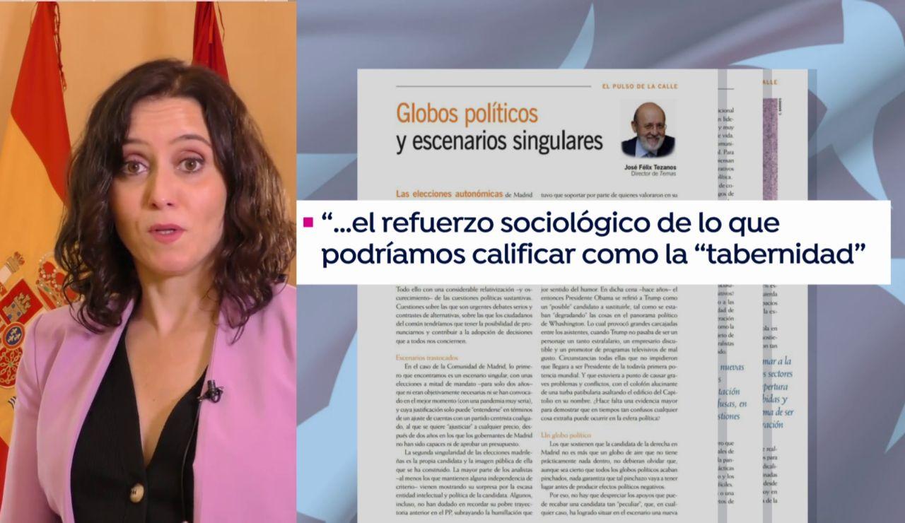 Isabel Díaz Ayuso y su definición de los tabernarios