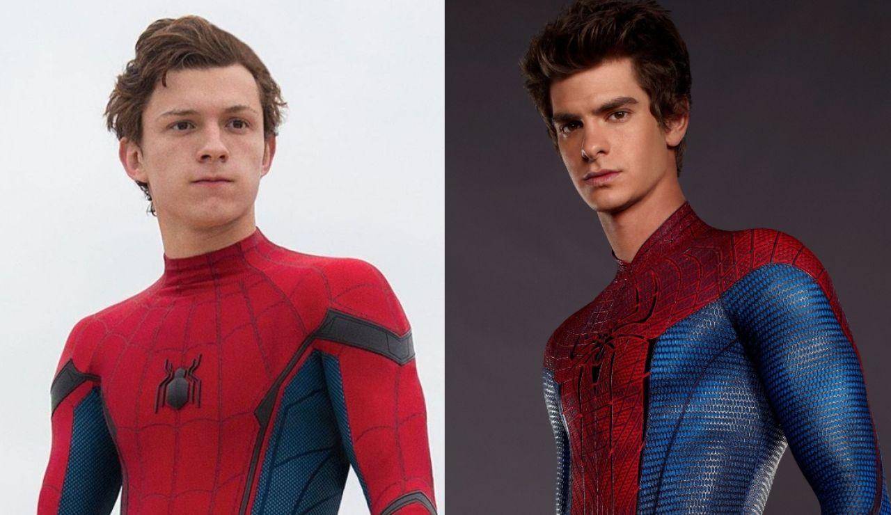 Tom Holland y Andrew Garfield como SpiderMan
