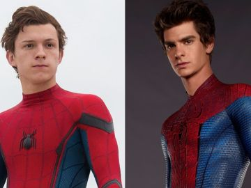 Tom Holland y Andrew Garfield como SpiderMan