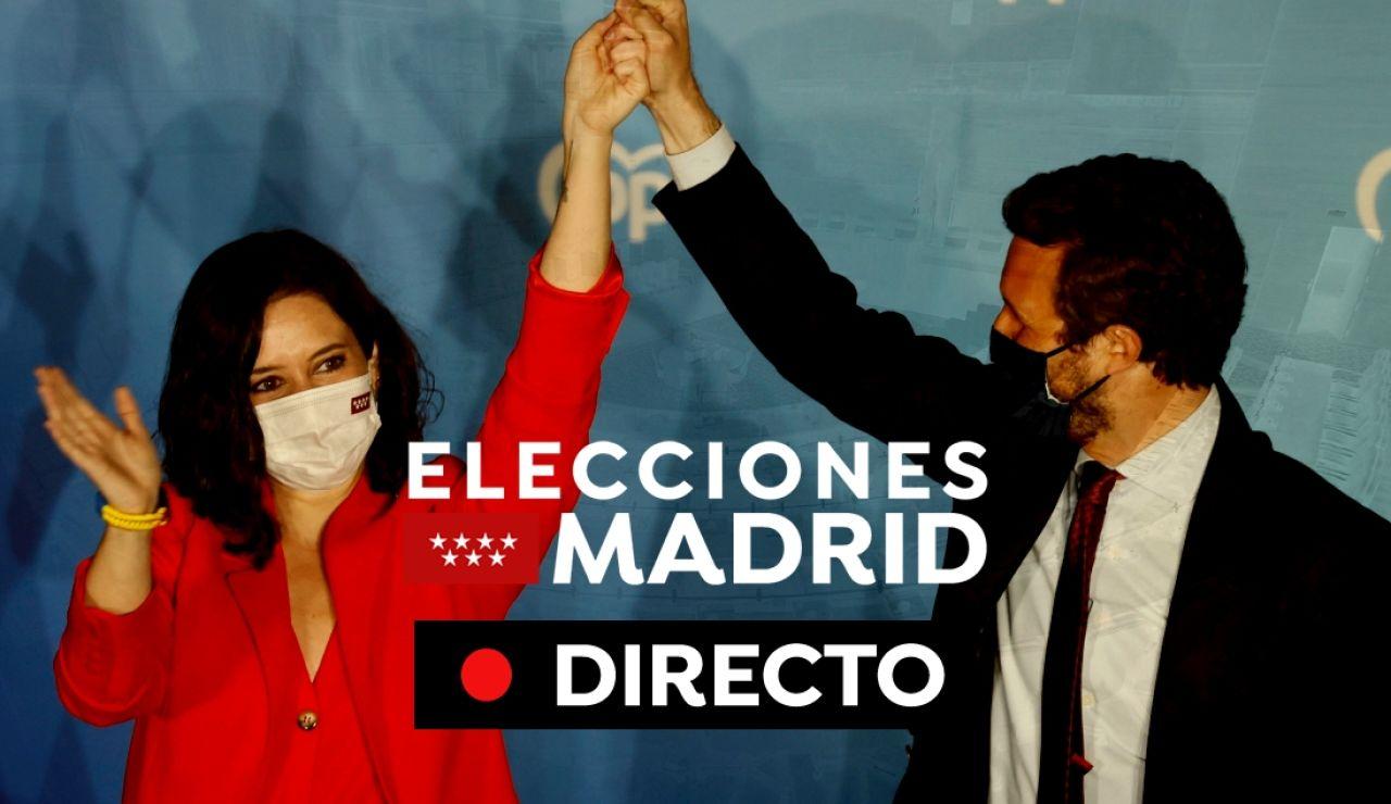 Elecciones Madrid 2021: Última hora y resultados oficiales, en directo