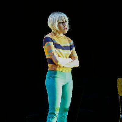 Angy Fernández, en la presentación de una obra de teatro