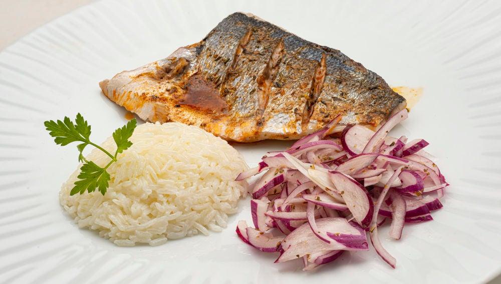 Receta de dorada en adobo con arroz, de Karlos Arguiñano