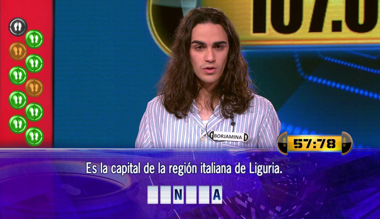 Tres preguntas separan a Borja de 107.001 euros en el Duelo Final de '¡Ahora caigo!'