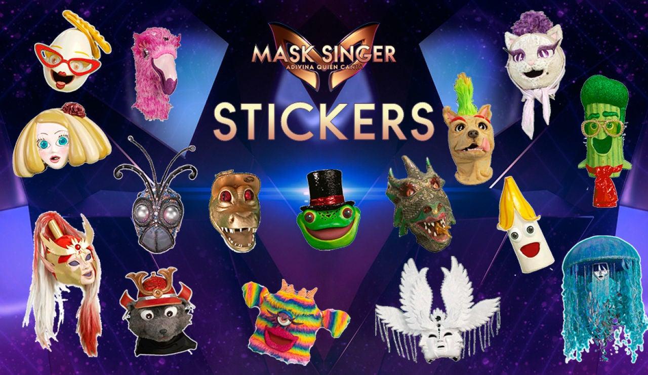 Los stickers exclusivos de 'Mask Singer: adivina quién canta' que no podrás dejar de usar