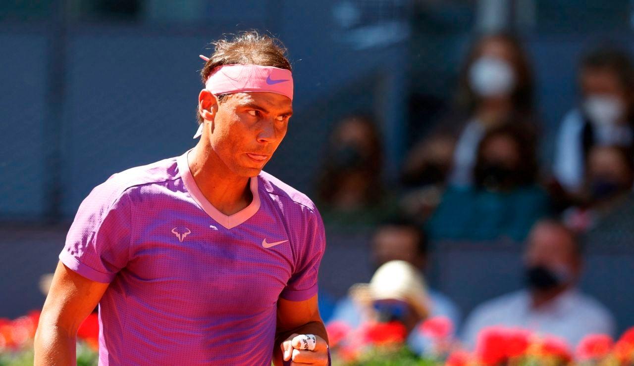 Rafa Nadal no da opciones a Carlos Alcaraz y avanza en el Mutua Madrid Open